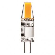 Λάμπα led G4 12V 2W AC DC COB ενδιάμεσο φυσικό λευκό φως 4000Κ σιλικόνης (sillicon) καρφάκι ψείρα 360° 3,7cm x 1cm 220lumen