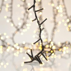 Χριστουγεννιάτικα 800 led extra πυκνά ανά 2cm λαμπάκια (φωτάκια) θερμά λευκά στεγανά IP44 με επέκταση έως 2 συσκευασίες και πράσινο καλώδιο 1918cm