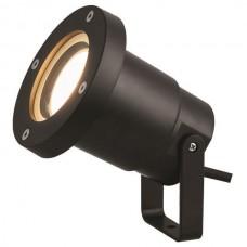 Φωτιστικό σποτ κήπου σιντριβανιού πλαστικό GU10 220V χρώματος μαύρο στεγανό αδιάβροχο IP65 εξωτερικού χώρου Φ9,5cm x 10cm για λάμπες led