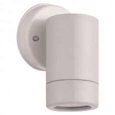 Φωτιστικό σποτ απλίκα τοίχου πλαστικό GU10 220V χρώματος λευκό στεγανό αδιάβροχο IP65 εξωτερικού χώρου Φ6cm x 10cm για λάμπες led