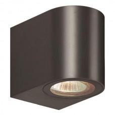 Φωτιστικό σποτ απλίκα τοίχου οβάλ down πλαστικό GU10 220V χρώματος μαύρο στεγανό αδιάβροχο IP54 εξωτερικού χώρου 8cm x 7cm x 9,5cm για λάμπες led