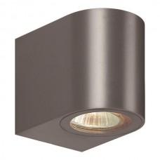 Φωτιστικό σποτ απλίκα τοίχου οβάλ down πλαστικό GU10 220V χρώματος γραφίτη στεγανό αδιάβροχο IP54 εξωτερικού χώρου 8cm x 7cm x 9,5cm για λάμπες led