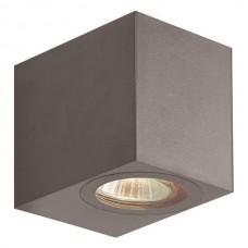 Φωτιστικό σποτ απλίκα τοίχου τετράγωνο down πλαστικό GU10 220V χρώματος γραφίτης στεγανό αδιάβροχο IP54 εξωτερικού χώρου 8cm x 7cm x 9,5cm για λάμπες led