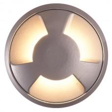Φωτιστικό led δαπέδου μαύρο εξωτερικό 12V 3W στρογγυλό Φ6,8cmx2,4cm αλουμινίου 3F (μάτια) θερμό φώς 3000Κ στεγανό IP65 75lumens