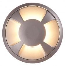 Φωτιστικό led δαπέδου μαύρο εξωτερικό 12V 3W στρογγυλό Φ6,8cmx2,4cm αλουμινίου 4F (μάτια) θερμό φώς 3000Κ στεγανό IP65 75lumens