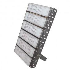Προβολέας led smd 300W (300 watt) 6x50W επαγγελματικός ψυχρό λευκό φως 5000Κ αλουμινίου μαύρος στεγανός IP65 36000lumen 30cm x 48,5cm 100-240V AC