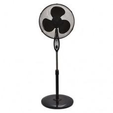 Ανεμιστήρας δαπέδου ορθοστάτης Φ40cm 60W με κοντρόλ (τηλεχειριστήριο) χρονοδιακόπτη 3 ταχύτητες 3 φτερωτές χρώματος μαύρο