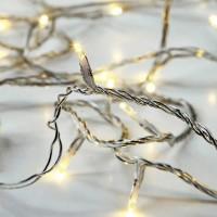 Χριστουγεννιάτικα 50 θερμά led λαμπάκια (φωτάκια) μπαταρίας 3ΑΑ μη στεγανά IP20 και διάφανο καλώδιο 540cm
