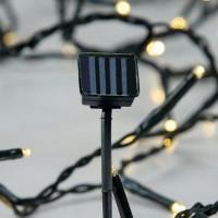 Χριστουγεννιάτικα 96 θερμά led λαμπάκια (φωτάκια) με καρφωτό ηλιακό συλλέκτη (panel) στεγανά IP44 και πράσινο καλώδιο 1050cm