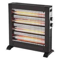 Θερμάστρα χαλαζία slim με θερμοστάτη 2800W διακόπτη ασφαλείας χρώμα μαύρο και κάλυψη χώρου έως 30m²