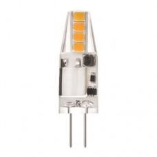 Λάμπα led G4 12V 2W AC DC SMD θερμό λευκό φως 2700Κ σιλικόνης (sillicon) καρφάκι ψείρα 360° 3,7cm x 1cm 200lumen