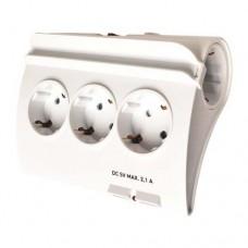 Πολύπριζο λευκό 5 θέσεων σούκο δύο (2) θύρες USB με διακόπτη βάση στήριγμα για κινητό τηλέφωνο ή tablet 1,5m καλώδιο 3 x 1,5mm και παιδική προστασία