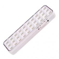 Φωτιστικό ασφαλείας 2W με 30 led (εφεδρικός φωτισμός) μπαταρίας λιθίου 1200mAh 120lumen ψυχρό λευκό φως μη στεγανό IP20 και μήκος 20,2cm