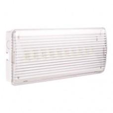 Φωτιστικό ασφαλείας 2W με 10 led στεγανό IP43 (εφεδρικός φωτισμός) μπαταρίας λιθίου 1200mAh 120lumen ψυχρό λευκό φως και μήκος 26cm