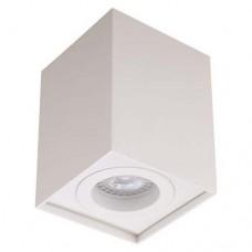 Φωτιστικό οροφής 8,3cm x 11cm μονόφωτο τετράγωνο αλουμινίου με ντουι GU10 χρώματος λευκό για λάμπες led