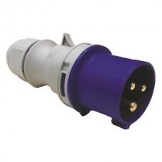 Φις αρσενικό 3x16Α βιομηχανικού τύπου προέκτασης ρευματολήπτης μονοφασικός 230V στεγανό IP44