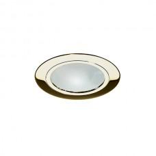 Σποτ χωνευτό G4 12V επίπλου ξύλου στρογγυλό χρώματος χρυσό γυαλιστερό με γυαλί σταθερό αλουμινίου με διάμετρο 7,2cm (εγκοπής 5,5cm)