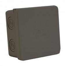 Κουτί εξωτερικό (επίτοιχο) μπουάτ διακλάδωσης τετράγωνο 85mm x 85mm x 45mm (8,5cm x 8,5cm x 4,5cm) στεγανό IP65 χρώματος μαύρο