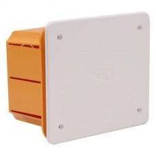Μπουάτ χωνευτό διακλάδωσης κουτί ορθογώνιο 118x96x70mm (11,8x9,6x7cm) χρώματος κίτρινο με λευκό καπάκι