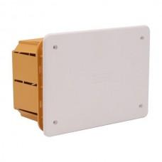 Μπουάτ κουτί χωνευτό διακλάδωσης ορθογώνιο 157x98x70mm (15,7x9,8x7cm) χρώματος κίτρινο με λευκό καπάκι