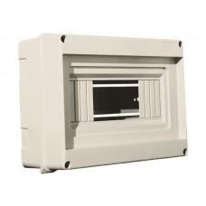 Πίνακας 8 (οχτώ) θέσεων 1 σειράς εξωτερικός επίτοιχος χωρίς πόρτα διαστάσεων 160x200x90mm χρώματος γκρι και στεγανότητα IP40