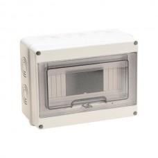 Πίνακας 8 (οχτώ) θέσεων 1 σειράς ηλεκτρολογικός εξωτερικός επίτοιχος με πόρτα 160x200x90mm χρώματος γκρι και στεγανότητα IP65