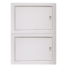 Πίνακας 24 (εικοσιτεσσάρων) θέσεων 2 σειρών χωνευτός γυψοσανίδας ηλεκτρολογικός με πόρτα 500x369x102mm χρώματος λευκό και στεγανότητα IP40
