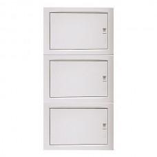 Πίνακας 36 (τριανταέξι) θέσεων 3 σειρών χωνευτός γυψοσανίδας ηλεκτρολογικός με πόρτα 750x369x102mm χρώματος λευκό και στεγανότητα IP40