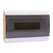 Πίνακας 14 (δεκατεσσάρων) θέσεων 1 σειράς χωνευτός πλαστικός ηλεκτρολογικός με πόρτα 200x300x95mm χρώματος λευκό και στεγανότητα IP40