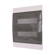 Πίνακας 26 (είκοσι έξι) θέσεων 2 σειρών χωνευτός πλαστικός ηλεκτρολογικός με πόρτα 405x315x110mm χρώματος λευκό και στεγανότητα IP40