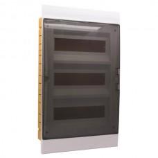 Πίνακας 39 (τριάντα εννιά) θέσεων 3 σειρών χωνευτός πλαστικός ηλεκτρολογικός με πόρτα 525x315x110mm χρώματος λευκό και στεγανότητα IP40