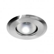 Σποτ μπαλκονιού R63 μεσαίο χωνευτό αλουμινίου νίκελ (ασημί) ματ στεφάνι σετ με μηχανισμό ντουί E27 και διάμετρο Φ12cm (εγκοπής Φ9,6cm)