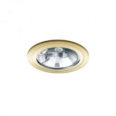 Φωτιστικό σποτ σταθερό χωνευτό G4 12V επίπλου ξύλου στρογγυλό χρώματος χρυσό ματ χωρίς γυαλί αλουμινίου με διάμετρο 6,8cm (εγκοπής 6cm)