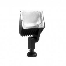 Προβολέας ιωδίνης φτυαράκι δαπέδου R7s J118mm χρώματος μαύρο 31,4cm x 16,6cm