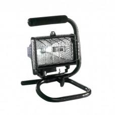 Προβολέας ιωδίνης δαπέδου φορητός με χερούλι J118mm 500W στεγανός IP54 εξωτερικού χώρου χρώματος μαύρο 28mm x 17,5mm