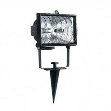 Προβολέας ιωδίνης R7s J78mm 150W καρφωτός δαπέδου με πασαλάκι χρώματος μαύρο 45,4cm x 13,5cm