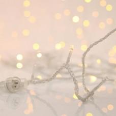 Χριστουγεννιάτικα 700 flash led (αναβόσβημα) λαμπάκια (φωτάκια) θερμά λευκά στεγανά IP44 με επέκταση έως 2 συσκευασίες και διάφανο καλώδιο 7310cm