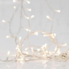 Χριστουγεννιάτικα 100 led φως ημέρας day light λαμπάκια (φωτάκια) στεγανά αδιάβροχα IP44 ανά 5cm με επέκταση έως 3 και διάφανο καλώδιο 815cm