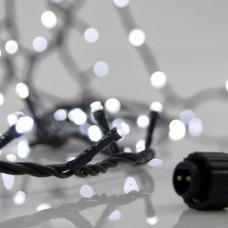 Χριστουγεννιάτικα 300 led λαμπάκια φωτάκια ψυχρό λευκό σε σειρά με επέκταση έως 3 και πράσινο καλώδιο 1815cm στεγανά IP44