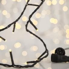 Χριστουγεννιάτικα 300 led λαμπάκια φωτάκια φως ημέρας (daylight) σε σειρά με επέκταση έως 3 και πράσινο καλώδιο 1815cm στεγανά IP44