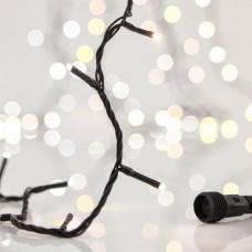 Χριστουγεννιάτικα 300 led λαμπάκια διπλό χρώμα ψυχρό θερμό λευκό με κοντρόλ dimmer σε σειρά με επέκταση έως 3 και πράσινο καλώδιο 1815cm στεγανά IP44