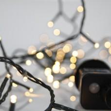 Χριστουγεννιάτικα 100 led λαμπάκια (φωτάκια) φως ημέρας daylight χρώμα σε σειρά με πρόγραμμα και πράσινο καλώδιο 795cm στεγανά IP44