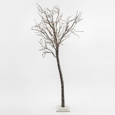 Χριστουγεννιάτικο δέντρο 180cm ύψος χιονισμένο φωτιζόμενο με 180 led λαμπάκια θερμό λευκό φώς μη στεγανό IP20 και διάμετρο 110cm
