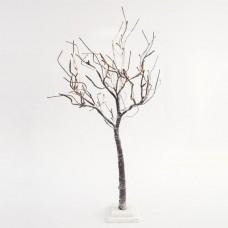 Χριστουγεννιάτικο δέντρο 90cm ύψος χιονισμένο φωτιζόμενο με 72 led λαμπάκια θερμό λευκό φώς μη στεγανό IP20 και διάμετρο 50cm