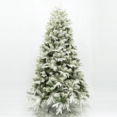 Χριστουγεννιάτικο δέντρο 150cm (1,50 μέτρα) χιονισμένο Όλυμπος υλικό pvc με μέταλλο διάμετρος 100cm μεταλλική βάση και 438 κλαδιά