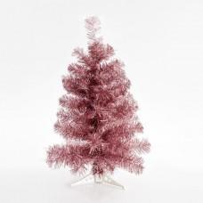 Χριστουγεννιάτικο δέντρο (δεντράκι) χρώματος ροζ ύψος 60cm υλικό pvc διάμετρος 33cm πλαστική βάση και 72 κλαδιά