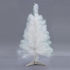 Χριστουγεννιάτικο δέντρο (δεντράκι) χρώματος λευκό (άσπρο) ύψος 60cm υλικό pvc διάμετρος 33cm πλαστική βάση και 72 κλαδιά