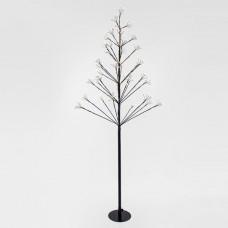 Χριστουγεννιάτικο δέντρο 150cm ύψος φωτιζόμενο με 456 mini led (152 flash led) λαμπάκια θερμό λευκό φώς στεγανό IP44 και διάμετρο 72cm
