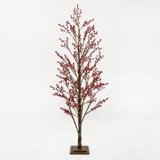 Χριστουγεννιάτικο δέντρο berry 180cm ύψος φωτιζόμενο με 168 mini led λαμπάκια θερμό λευκό φώς μη στεγανό IP20 και διάμετρο 80cm