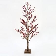 Χριστουγεννιάτικο δέντρο berry 150cm ύψος φωτιζόμενο με 102 mini led λαμπάκια θερμό λευκό φώς μη στεγανό IP20 και διάμετρο 70cm